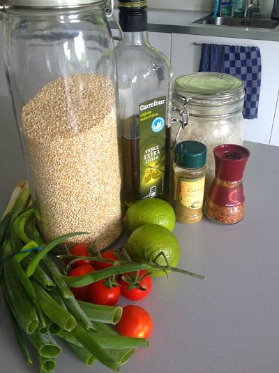 Ingredienten quinoa zesty
